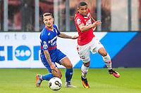 ALKMAAR - 10-09-2016, AZ - Willem II, AFAS Stadion, debuut voor Willem II speler Jordy Croux, AZ speler Dabney dos Santos Souza