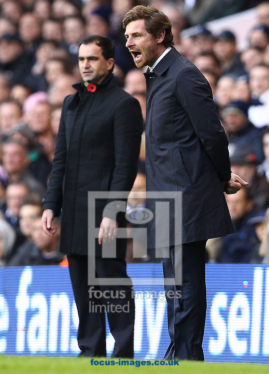 Picture by Paul Terry/Focus Images Ltd +44 7545 642257.03/11/2012.Andre Villas-Boas ( R ) , manager of Tottenham Hotspur and Roberto Martinez, manager of Wigan Athletic during the Barclays Premier League match at White Hart Lane, London.