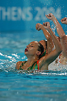26/08/04 - ATHENS  - GREECE -  OLYMPICS GAMES 2004 - SYNCHRONISED SWIMMING - Team event - Technical Routine <br />Here the teal from CANADA.<br />© Gabriel Piko / Argenpress.com / Piko-Press