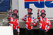 British Fans during racing on the Bugatti Circuit at Le Mans, Le Mans, France on 19 May 2019.