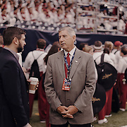 Big XII commissioner, Bob Bowlsby speaks with another official prior to the game.<br /> <br /> Todd Spoth for The New York Times.