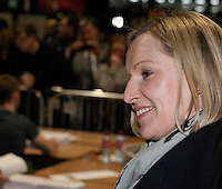 Leader of the Renua Ireland political party Lucinda Creighton at the vote count for the 2016 Irish General Election at RDS, Dublin, Ireland. Saturday 27th February 2016. Photographer: Doreen Kennedy