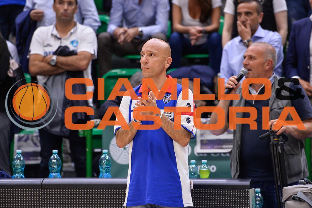 Stefano Sardara<br /> Banco di Sardegna Dinamo Sassari - Dolomiti Energia Aquila Basket Trento<br /> Legabasket Serie A LBA Poste Mobile 2016/2017<br /> Playoff Quarti Gara3<br /> Sassari 16/05/2017<br /> Foto Ciamillo-Castoria
