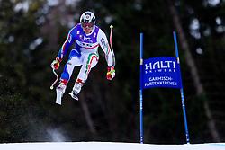 10.02.2011, Kandahar, Garmisch Partenkirchen, GER, FIS Alpin Ski WM 2011, GAP, Herren Abfahrtstraining, im Bild Peter Fill (ITA) takes to the air competing in the first men's downhill training run on the Kandahar race piste at the 2011 Alpine skiing World Championships, EXPA Pictures © 2011, PhotoCredit: EXPA/ M. Gunn