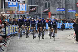 Team Sky arrive at sign on before the 2019 Gent-Wevelgem in Flanders Fields running 252km from Deinze to Wevelgem, Belgium. 31st March 2019.<br /> Picture: Eoin Clarke | Cyclefile<br /> <br /> All photos usage must carry mandatory copyright credit (© Cyclefile | Eoin Clarke)