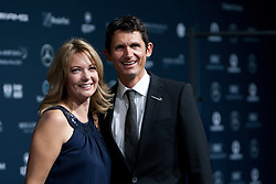 14.11.2011, Hotel Grand Tirolia, Kitzbuehel, AUT, Verleihung Laureus Medienpreis 2011, Roter Teppich im Bild Michael Teuber mit Ehefrau // at the red carpet of the Laureus Media Award 2011 at the Grand Hotel Tirolia in Kitzbuehel, Austria on 14/11/2011. EXPA Pictures © 2011, PhotoCredit: EXPA/ Johann Groder