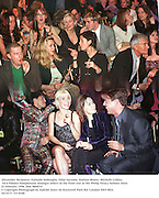 Alexander McQueen, Nathalie Imbruglia, Vidal Sassoon, Nathan Moore, Michelle Collins, Tara Palmer-Tompkinson amongst others in the front row at the Philip Treacy fashion show. 22 Februaary 1998. film 9864f32<br />