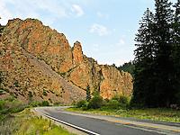 CO HWY 114 passes through Cochetopa Canyon.