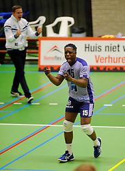 06-10-2012 VOLLEYBAL: SLIEDRECHT SPORT - ABIANT LYCURGUS 2: SLIEDRECHT<br /> Abiant Lycurgus 2 heeft in de Topdivisie Sliedrecht Sport met 1-3 verslagen. De setstanden waren 28-26, 19-25, 21-25 en 20-25 / Jheffrey Albertoe<br /> ©2012-FotoHoogendoorn.nl