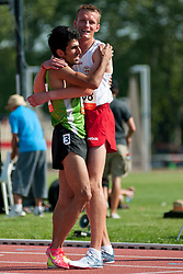NASIRI BAZANJANI Peyman, PEK Daniel, IRI, POL, 1500m, T20, 2013 IPC Athletics World Championships, Lyon, France