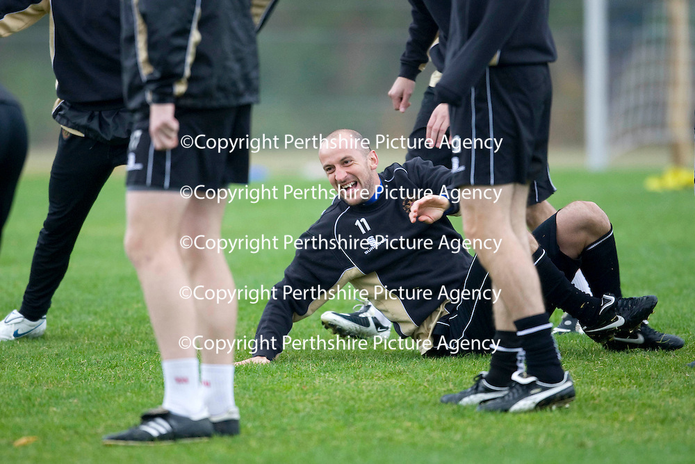 St Johnstone training...23.10.09<br /> Paul Sheerin pictured during training this morning<br /> Picture by Graeme Hart.<br /> Copyright Perthshire Picture Agency<br /> Tel: 01738 623350  Mobile: 07990 594431