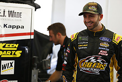 September 14, 2018 - Las Vegas, Nevada, United States of America - Matt DiBenedetto (32) hangs out in the garage during practice for the South Point 400 at Las Vegas Motor Speedway in Las Vegas, Nevada. (Credit Image: © Chris Owens Asp Inc/ASP via ZUMA Wire)