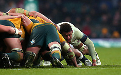 Courtney Lawes of England takes part in the scrum - Mandatory by-line: Robbie Stephenson/JMP - 18/11/2017 - RUGBY - Twickenham Stadium - London, England - England v Australia - Old Mutual Wealth Series