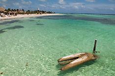 Mexican caribbean coast and ruins