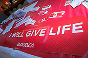 KELOWNA, CANADA - DECEMBER 30:  Canadian Blood Services at the Kelowna Rockets game on December 30, 2017 at Prospera Place in Kelowna, British Columbia, Canada.  (Photo By Cindy Rogers/Nyasa Photography,  *** Local Caption ***