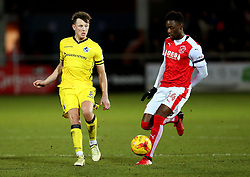 Ollie Clarke of Bristol Rovers and Devante Cole of Fleetwood Town - Mandatory by-line: Matt McNulty/JMP - 14/01/2017 - FOOTBALL - Highbury Stadium - Fleetwood, England - Fleetwood Town v Bristol Rovers - Sky Bet League One