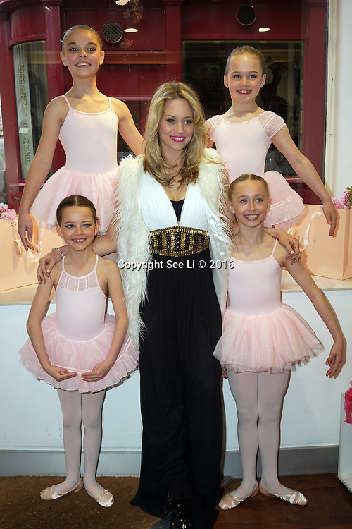 London,England,UK : 28th April 2016 : The Pussycat Dolls – Kimberly Wyatt and Dance World Cup dancers attend Kimberly Wyatt launches the 2016 annual BLOCH Dance World Cup at BLOCH, 35 Drury Lane, Covent Garden, London. Photo by See Li