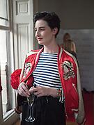 ERIN O' CONNOR, Elizabeth Arden.-100th anniversary party. 33 Fitzroy Square, London W1, 29 June 2010. DO NOT ARCHIVE-© Copyright Photograph by Dafydd Jones. 248 Clapham Rd. London SW9 0PZ. Tel 0207 820 0771. www.dafjones.com.