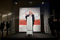 14 JAN 2010, BERLIN/GERMANY:<br /> Frank-Walter Steinmeier, SPD Fraktiionsvorsitzender, haelt eine Rede, Neujahrsempfang der SPD Bundestagsfarktion, Fraktionsebene, Deutscher Bundestag<br /> IMAGE: 20100114-02-004