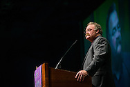 The Rev. Dr. Matthew C. Harrison, president of The Lutheran Church–Missouri Synod, addresses participants of the 36th Biennial Convention of the Lutheran Women's Missionary League on Friday, June 26, 2015, at the Iowa Events Center in Des Moines, Iowa. LCMS Communications/Erik M. Lunsford