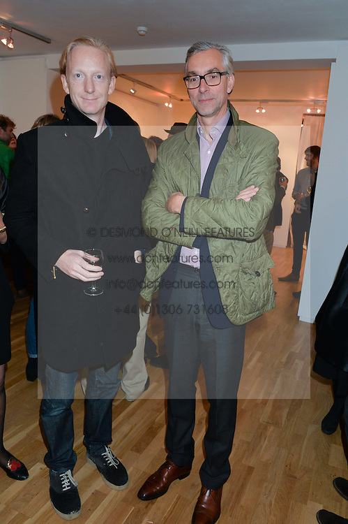 Left to right, CHARLES ASPREY and THILO WERMKE at a party to celebrate the reopening of the Turps Art School held at Shapero Modern, 32 St.Georges Street, London on 14th October 2014.