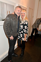 MARK FULLER and LINDSEY CARLOS CLARKE at a private view to celebrate the 25th anniversary of the publication of White Heat featuring the photographs by Bob Carlos Clarke of Marco Pierre White held at the Little Black Gallery, 13 A Park Walk, London on 10th February 2015.