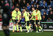 Brighton central midfielder, Dale Stephens (6) celebrates his goal during the Sky Bet Championship match between Queens Park Rangers and Brighton and Hove Albion at the Loftus Road Stadium, London, England on 15 December 2015.