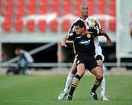 05-08-2008 Voetbal:FC ENERGIE COTTBUS:WILEM II:COTTBUS<br /> Danny Schenkel verdedigt Dimitar Rangelov<br /> <br /> Foto: Geert van Erven