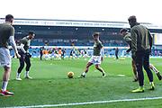 Jamie Shackleton of Leeds United (46) warms up with team mates, including Jack Harrison of Leeds United (22) during the EFL Sky Bet Championship match between Leeds United and Bristol City at Elland Road, Leeds, England on 24 November 2018.
