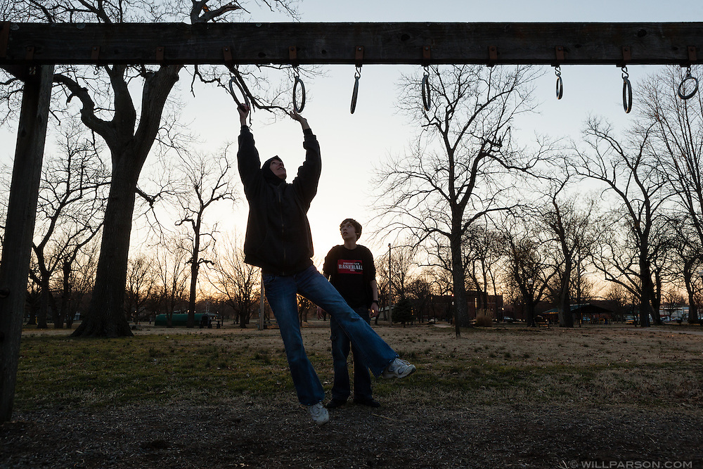 "Misty takes Khalil to Forest Park near their home in Parsons, Kansas. ""I pray to Allah that (Khalil) stays a Muslim, but there's a chance that he won't. And if he doesn't, it doesn't mean I'm going to love him any less, or anything else,"" Abdul-Hakim said."