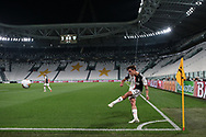 Juventus's Argentinian striker Paulo Dybala takes a corner kick during the Serie A match at Allianz Stadium, Turin. Picture date: 26th June 2020. Picture credit should read: Jonathan Moscrop/Sportimage