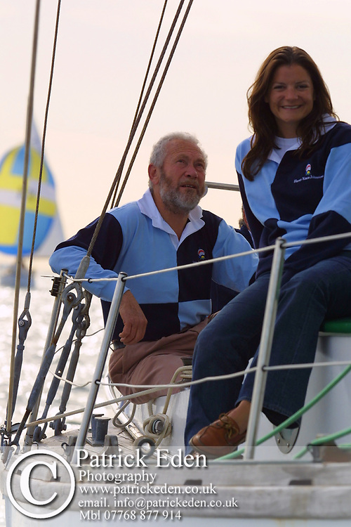 Round the Island Race 2003. Robin Knox Johnson, Suhaili. Cowes, Isle of Wight, England, Sports Photography