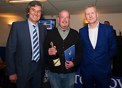 The Sportsman Pub wins 1st place in the 1883 Sponsors draw for home shirt sponsorship presented by Barry Bradshaw (Director of Bristol Rovers) and Mike Norton (Post Editor)  - Photo mandatory by-line: Dougie Allward/JMP - Mobile: 07966 386802 - 17/04/2015 - SPORT - Football - Bristol - Memorial Stadium