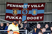 A flag put up by the travelling Aston Villa fans during the EFL Sky Bet Championship match between Fulham and Aston Villa at Craven Cottage, London, England on 17 February 2018. Picture by Andy Walter.