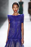 Anais Mali walks down runway for F2012 Tadashi Shoji's collection in Mercedes Benz fashion week in New York on Feb 9, 2012 NYC