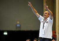 Håndball<br /> Kvalifisering til Champions leauge<br /> 4. September 2009<br /> Haukelandshallen<br /> Partizan - Fyllingen<br /> Partizan trener , Alexandar Blagojevic<br /> Foto: Astrid M. Nordhaug