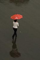 Torrential rain in Beijing, China.