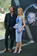 """Aaron Stanford and Amanda Schull from Cast """"12 Monkeys"""" poses at the photocall during the 55th Festival TV in Monte-Carlo on June 15, 2015 in Monte-Carlo, Monaco."""