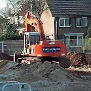 Werkzaamheden voorbereiding bouw disco Huizen