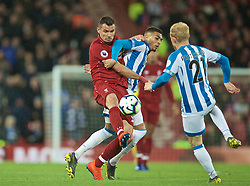 LIVERPOOL, ENGLAND - Friday, April 26, 2019: Liverpool's Dejan Lovren during the FA Premier League match between Liverpool FC and Huddersfield Town AFC at Anfield. (Pic by David Rawcliffe/Propaganda)