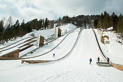 Flying hill's  reconstruction in Planica, on February 16, 2015 in Planica, Slovenia. Photo by Vid Ponikvar / Sportida