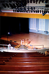 2001 September:  Grand Ole Opry Stage inside the Ryman Auditorium, Nashville Tennessee ..This image was scanned from a print.  Image quality may vary.  Dust and other unwanted artifacts may exist.