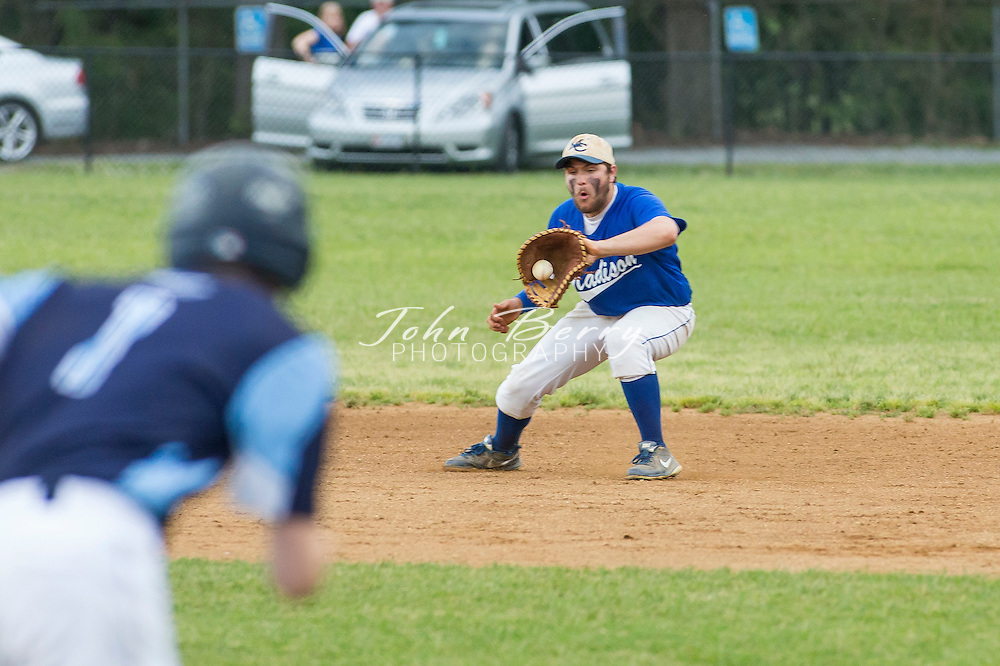 May  30, 2016.  <br /> Region 2A East Quarter Finals.  MCHS Varsity Baseball vs Page.  Madison wins 1-0 in 8 innings.<br /> <br /> The Baseball team beat Page County 1-0 in 8 innings in the Region 2A East 1/4 finals. Eli Estes threw all 8 innings allowing only 2 hits for the win. Chris Smith opened the bottom of the 8th with a single up the middle and was sacrificed to 2nd by Estes. Shane Aylor then delivered a 2 out RBI single down the left field line to bring home Smith for the 1-0 win. Zach Adams and Smith both had 2 hits on the night for the Mountaineers. Madison will host Maggie Walker on Wednesday night at 7:00pm in the Region semi-finals.