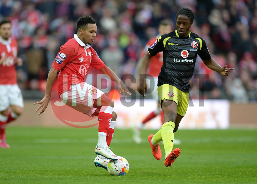 Bristol City's Korey Smith in action. - Photo mandatory by-line: Alex James/JMP - Mobile: 07966 386802 - 22/03/2015 - SPORT - Football - London - Wembley Stadium - Bristol City v Walsall - Johnstone Paint Trophy Final