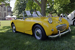 2018 Champagne British Car Festival held on Clover Lawn at David Davis Mansion in Bloomington IL<br /> <br /> 1959 Austin Healey