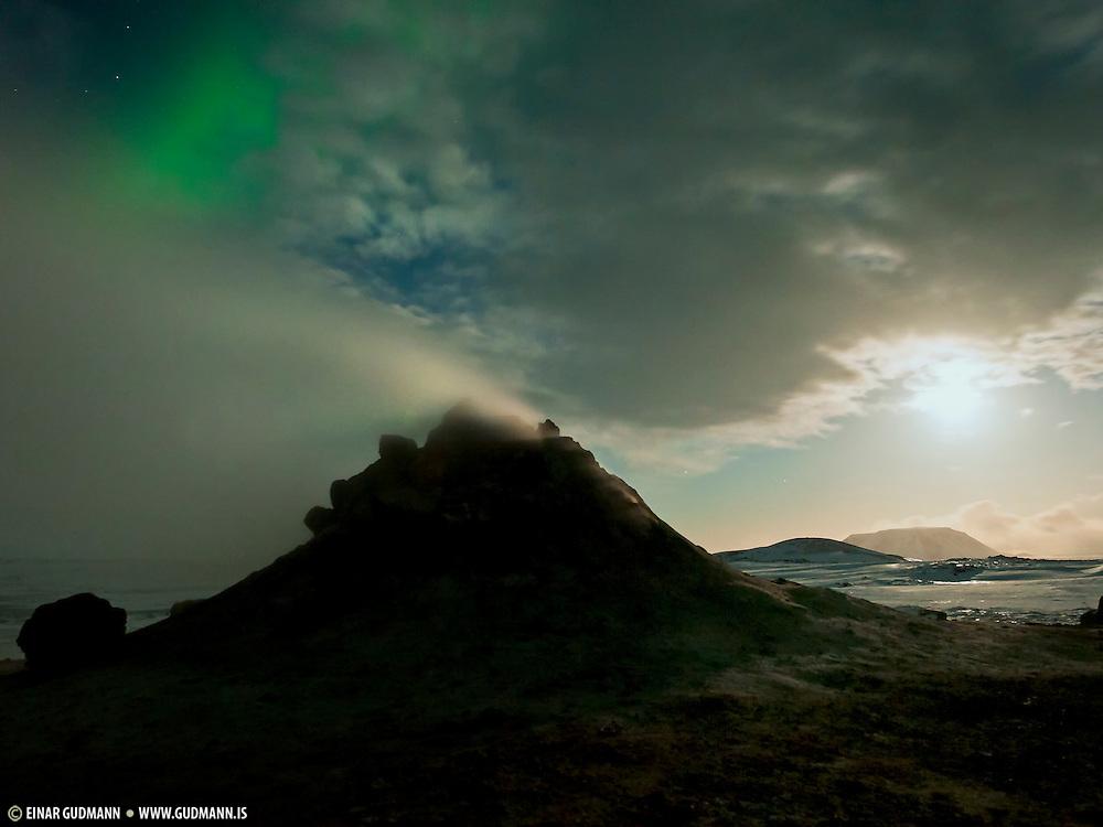 Námaskarð is a geothermal area near Mývatn, northeast-Iceland. Nightshots.