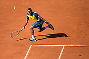 Paris, France. Roland Garros. June 4th 2013.<br /> French player Jo-Wilfried TSONGA against Roger FEDERER