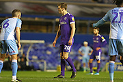 Portsmouth defender Sean Raggett in action during the EFL Sky Bet League 1 match between Coventry City and Portsmouth at the Trillion Trophy Stadium, Birmingham, England on 11 February 2020.