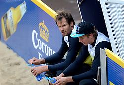 16-08-2014 NED: NK Beachvolleybal 2014, Scheveningen<br /> Reinder Nummerdor, Steven van de Velde