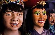 Olinda. Carnaval. Silvio Botelho's bonecos, puppets.